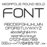 Trendy modern elegant bold font alphabet Royalty Free Stock Photography