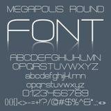 Trendy modern elegant font alphabet Stock Photos