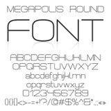 Trendy modern elegant font alphabet Stock Photo