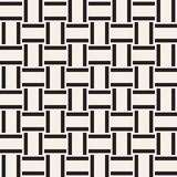 Trendy monochrome twill weave Lattice. Abstract Geometric Background Design. Vector Seamless Pattern. Trendy monochrome twill weave Lattice. Abstract Geometric Royalty Free Stock Images