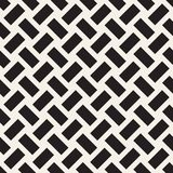 Trendy monochrome twill weave Lattice. Abstract Geometric Background Design. Vector Seamless Pattern. Trendy monochrome twill weave Lattice. Abstract Geometric Stock Photos