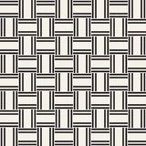 Trendy monochrome twill weave Lattice. Abstract Geometric Background Design. Vector Seamless Pattern. Trendy monochrome twill weave Lattice. Abstract Geometric Royalty Free Stock Photography
