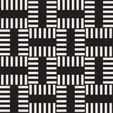 Trendy twill weave Lattice. Abstract Geometric Background Design. Vector Seamless Black and White Pattern. Trendy monochrome twill weave Lattice. Abstract Stock Photo