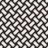 Trendy twill weave Lattice. Abstract Geometric Background Design. Vector Seamless Black and White Pattern. Trendy monochrome twill weave Lattice. Abstract Stock Images