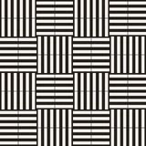 Trendy twill weave Lattice. Abstract Geometric Background Design. Vector Seamless Black and White Pattern. Trendy monochrome twill weave Lattice. Abstract Royalty Free Stock Photo