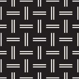 Trendy twill weave Lattice. Abstract Geometric Background Design. Vector Seamless Black and White Pattern. Trendy monochrome twill weave Lattice. Abstract Royalty Free Stock Photos