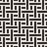Trendy monochrome twill weave. Vector Seamless Black and White Pattern. Stock Images