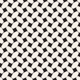 Trendy monochrome twill weave. Vector Seamless Black and White Pattern. Stock Image