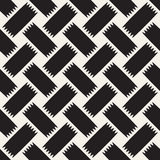 Trendy monochrome twill weave. Vector Seamless Black and White Pattern. Trendy monochrome twill weave. Abstract Geometric Background Design. Vector Seamless Stock Images