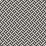 Trendy monochrome twill weave. Vector Seamless Black and White Pattern. Trendy monochrome twill weave. Abstract Geometric Background Design. Vector Seamless Royalty Free Stock Photos