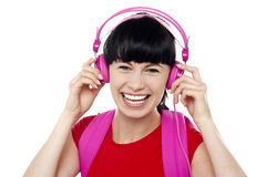 Trendy music lover college student Royalty Free Stock Images
