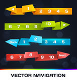 Trendy Navigation With Origami. Vector Trendy Navigation With Origami Stock Photo