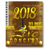 Trendy New year party poster template. Illustrated vector Royalty Free Stock Images