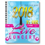 Trendy New year party poster template. Illustrated vector Royalty Free Stock Photography