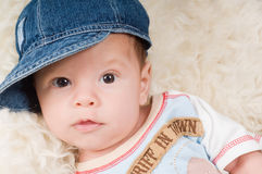 Trendy newborn boy Stock Photos