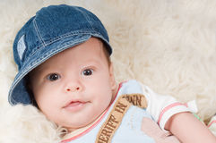 Trendy newborn boy Stock Image