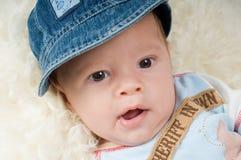 Trendy newborn boy Stock Photography