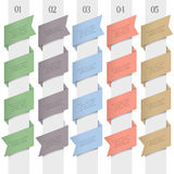 Trendy numbered banners in origami style Royalty Free Stock Photos
