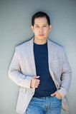 Trendy older asian man Stock Images