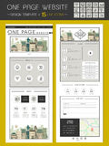 Trendy one page website template design Stock Photos