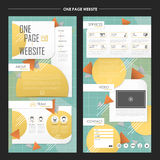 Trendy one page website template design Royalty Free Stock Photography