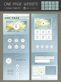Trendy one page website template design Stock Photo