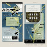 Trendy one page website template design Royalty Free Stock Photo