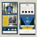 Trendy one page website template design with geometric elements Royalty Free Stock Photo