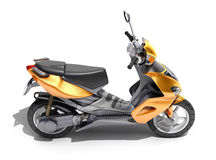 Trendy orange scooter close up Royalty Free Stock Images