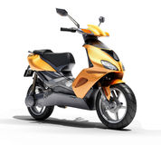 Trendy orange scooter close up Royalty Free Stock Image