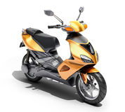 Trendy orange scooter close up Royalty Free Stock Photo