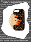 Trendy original design cases for phones Royalty Free Stock Image