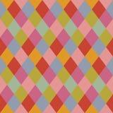Trendy pale pastel colors rhombus pattern background design element Stock Photography