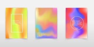 Trendy Pastel Holographic Foil Backgrounds for Cover, Flyer, Bro vector illustration