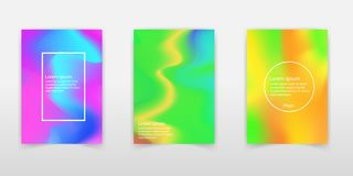 Trendy Pastel Holographic Foil Backgrounds for Cover, Flyer, Bro royalty free illustration