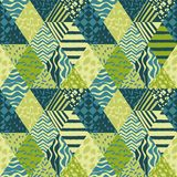 Trendy patchwork abstract seamless pattern Stock Images