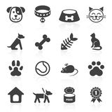 Trendy pet icons  on white. Vector Stock Photo
