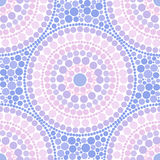 Trendy pink and blue colors dotted circles seamless pattern Royalty Free Stock Photography
