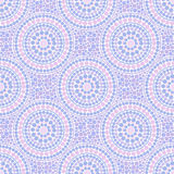 Trendy pink and blue colors dotted circles seamless pattern Royalty Free Stock Images