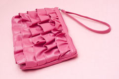 Trendy Pink Clutch Purse Royalty Free Stock Image