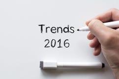 Trendy 2016 pisać na whiteboard Zdjęcie Royalty Free