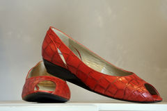 Trendy red shoes Royalty Free Stock Photos