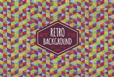 Trendy retro background. Stock Image