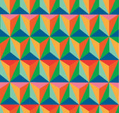 Trendy retro hipster geometric seamless pattern. Stock Photo