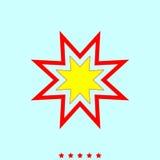 Trendy retro star it is icon . Trendy retro star  it is icon . Simple style Royalty Free Stock Photos