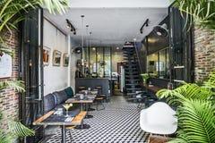 Trendy retro style restaurant interior design Royalty Free Stock Photo