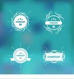 Trendy retro vintage badges logo set Royalty Free Stock Image