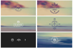 Trendy Retro Vintage Insignias Bundle Royalty Free Stock Photography