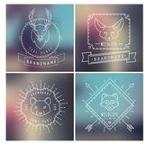 Trendy Retro Vintage Insignias Bundle. Animals Royalty Free Stock Images