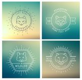 Trendy Retro Vintage Insignias Bundle. Animals Stock Images